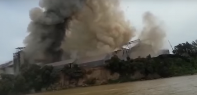 Fuerte explosión en una cerealera: un muerto y al menos 15 heridos